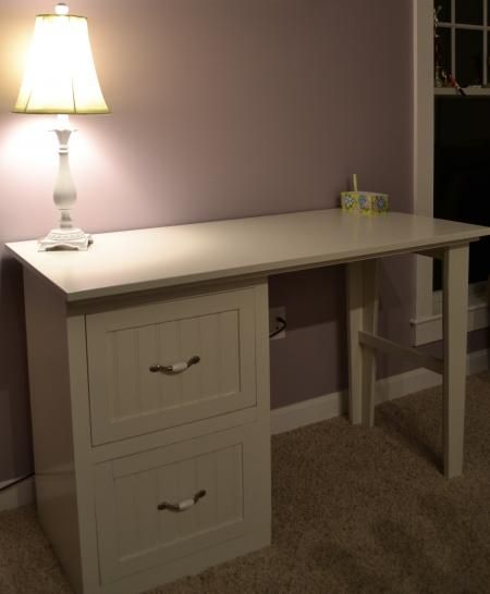 Desk with Filing Drawers (we need 1 drawer and 1 open space for .