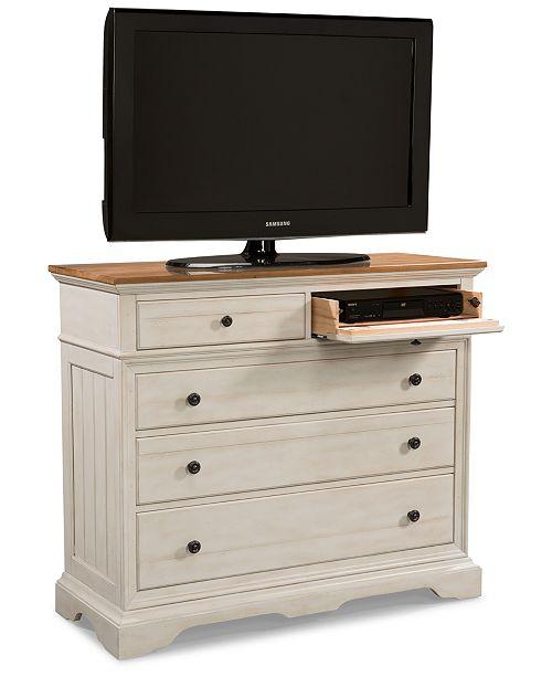 Furniture Cottage Solid Wood Small Media Dresser & Reviews .