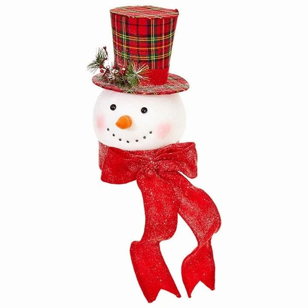 "RAZ Imports 14.75"" Everything Merry Snowman Head Christmas Tree ."
