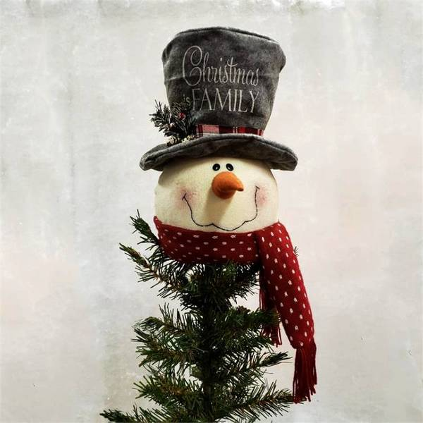 Christmas Is Family Snowman Tree Topper 7D4964 | Buffalo Trader Onli