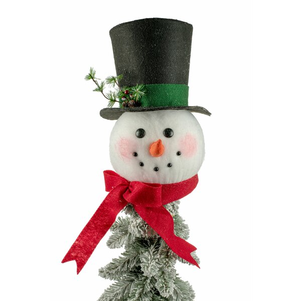Snowman Head Tree Topper   Wayfa