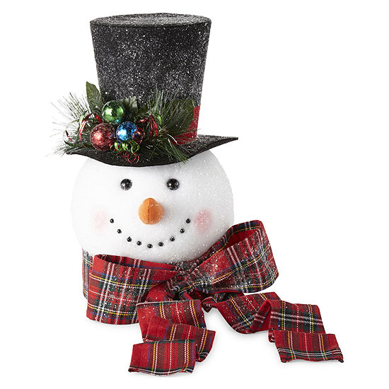"North Pole Trading Co. 14"" Snowman With Top Hat Christmas Tree ."