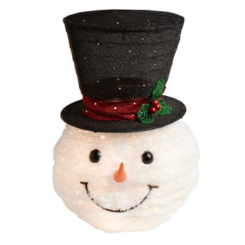Lighted Top Hat Snowman Tree Topper - Christmas Tree Shops and .