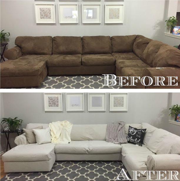 How To Revive An Old Sofa: Inspiring Makeovers | Sectional couch .