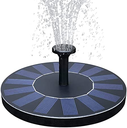 Amazon.com : Floating Solar Fountain, Solar Fountain Pump 1.4W .
