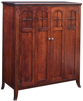 Maxton Amish Made Computer Armoire - Countryside Amish Furnitu
