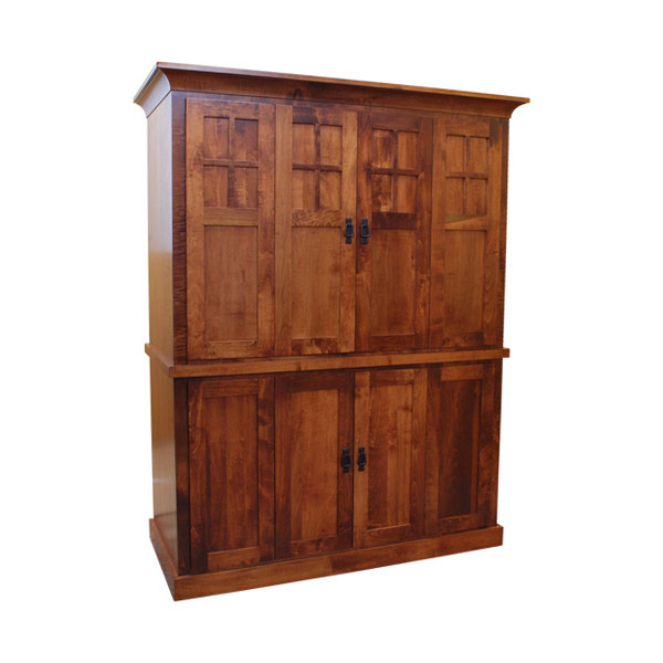 "55"" Amish Computer Armoire 