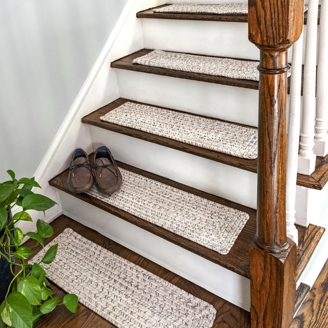 nuLOOM Braided Lefebvre 13-Piece Stair Treads - Contemporary .