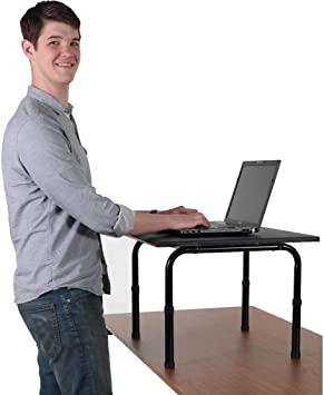 Amazon.com : Adjustable height standing desk. Convert your desk to .