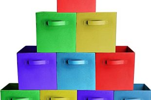 Amazon.com - [10-Pack, Assorted Colors] Durable Storage Bins .