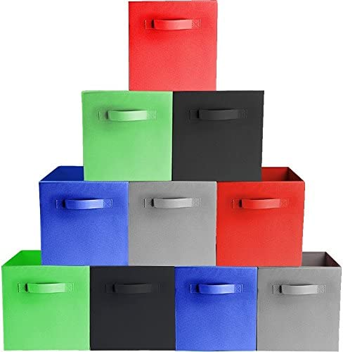 Amazon.com: Prorighty [10-Pack, 5 Colors] Storage Bins, Containers .