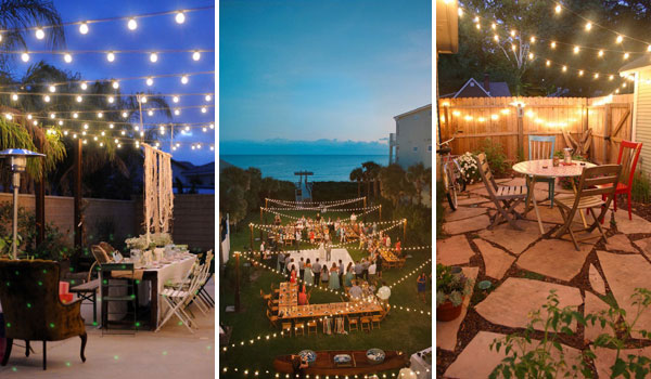 Best 26 Breathtaking Yard and Patio String Light Ide