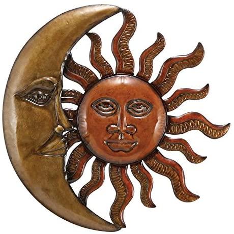 Amazon.com: Benzara Metal Sun Moon Wall Decor Discounted Wall Art .