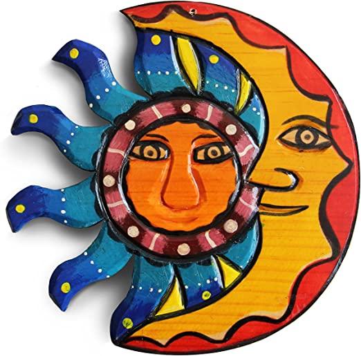 Amazon.com: Sun And Moon Wall Decor, Outdoor Wall Decor, Mexican .