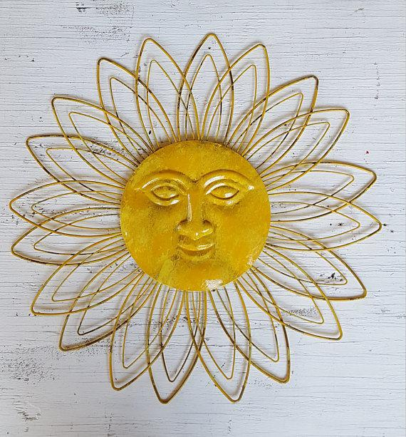 Sunface Wall Decor Garden Decor Metal Sun Wall Art Outdoor | Et
