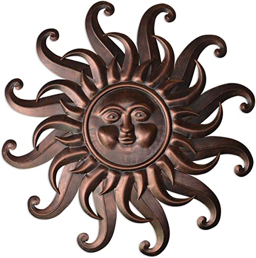 "Amazon.com: Comfy Hour 27"" Sun Face Wall Decor: Home & Kitch"