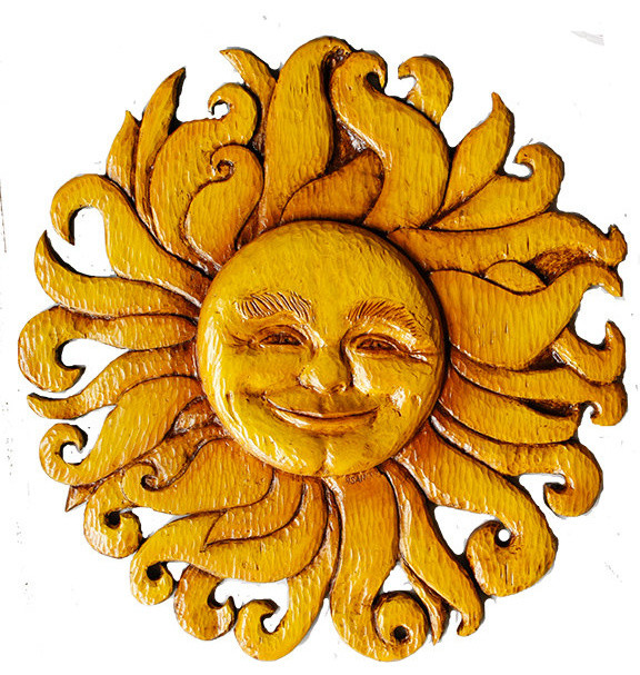 Sun Face Wall Decor Celestial Plaque - Southwestern - Wall .