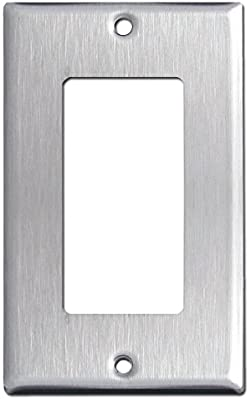 Brushed Satin Nickel Stainless Steel Wall Covers Switch Plates .