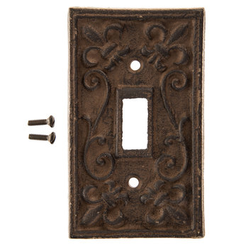 Rust Cast Iron Single Switch Plate | Hobby Lobby | 4661