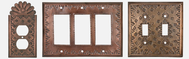 Switch Plates Rustic Tin - Handmade in Mexico - Free Shippi