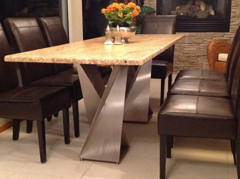 Twist Table Bases | Dining table, Stone dining table, Steel table ba