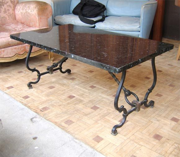 iron table bases for granite tops | Iron Coffee Table Granite .