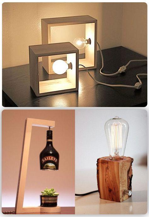 44+ Ideas Diy Table Lamp Shade in 2020   Diy table lamp, Bedside .