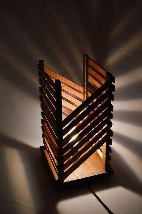 40+ Beautiful Rustic Wooden Lamp Design Ideas | Wood lamp design .