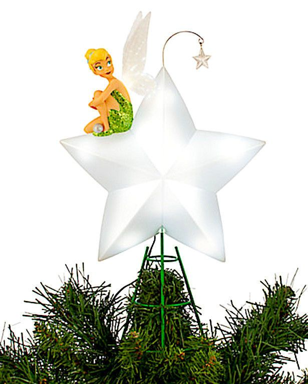 Disney Tinker Bell Light-Up Tree Star Tree Topper New Christmas .