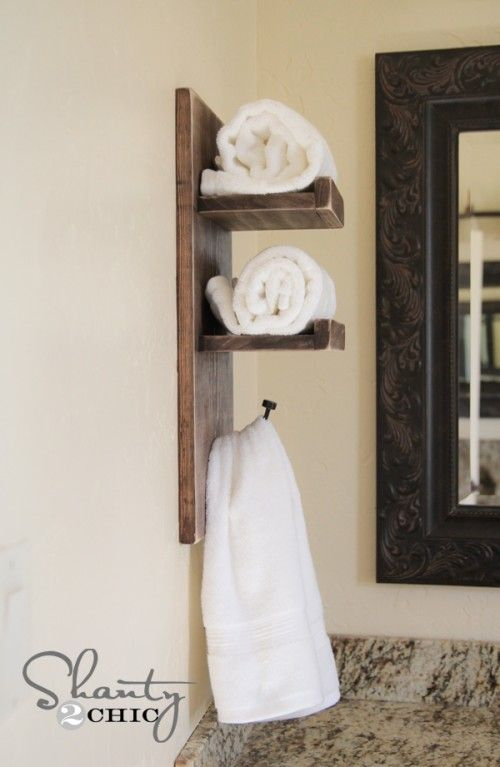 Super Cute DIY Towel Holder! | Towel holder diy, Diy towel rack .