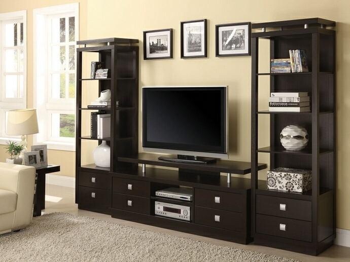 700696-800354 3 pc Latitude run bukovec espresso finish wood tv .