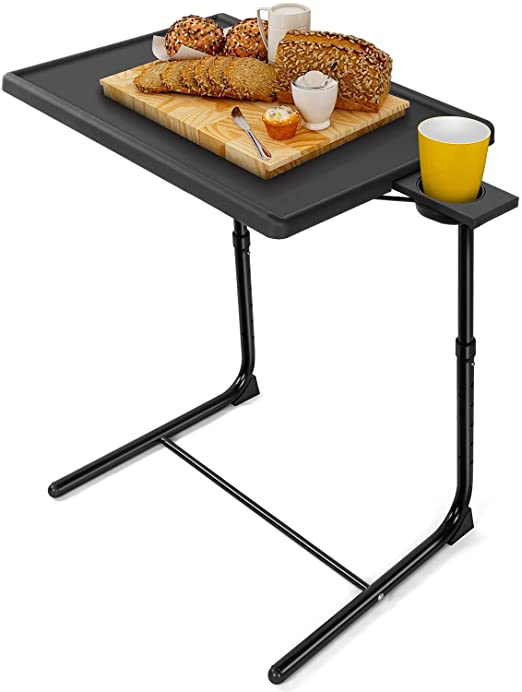 Amazon.com: LORYERGO TV Tray Table - Adjustable TV Dinner Tray .