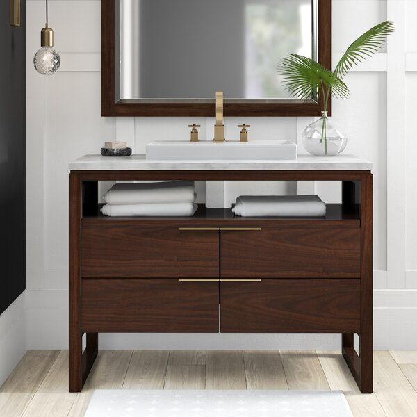 "Wigington 43"" Single Bathroom Vanity Set in 2020   Single bathroom ."