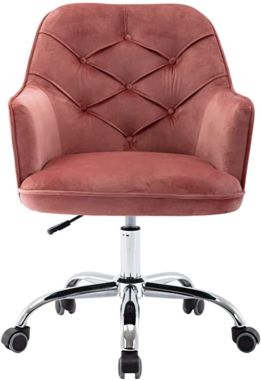 Amazon.com: Makeup Vanity Chair with Wheels,Round Tufted Swivel .