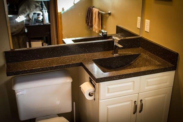 Bathroom vanity top extended over toilet | Bathroom vanity tops .