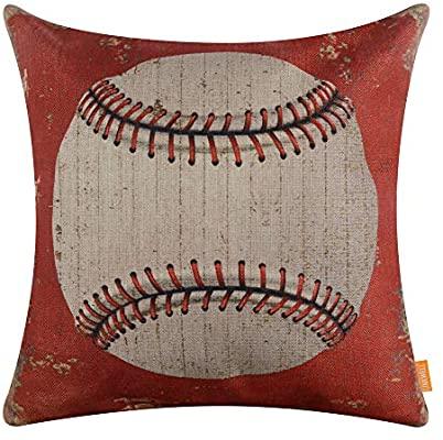 Amazon.com: LINKWELL Vintage Baseball Pillow Cover 18x18 inch .