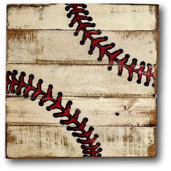 Baseball Wall Art Sports Decor Rustic Vintage Baseball Sign .