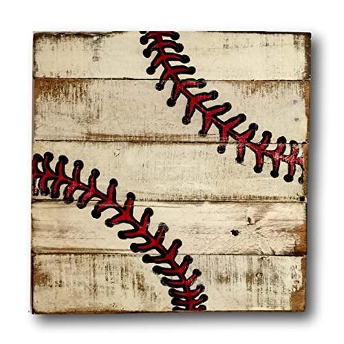 Amazon.com: Baseball Sign / Vintage Wood Sports Sign / Boys .