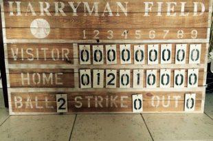 Customized Rustic Baseball vintage sports scoreboard | Vintage .