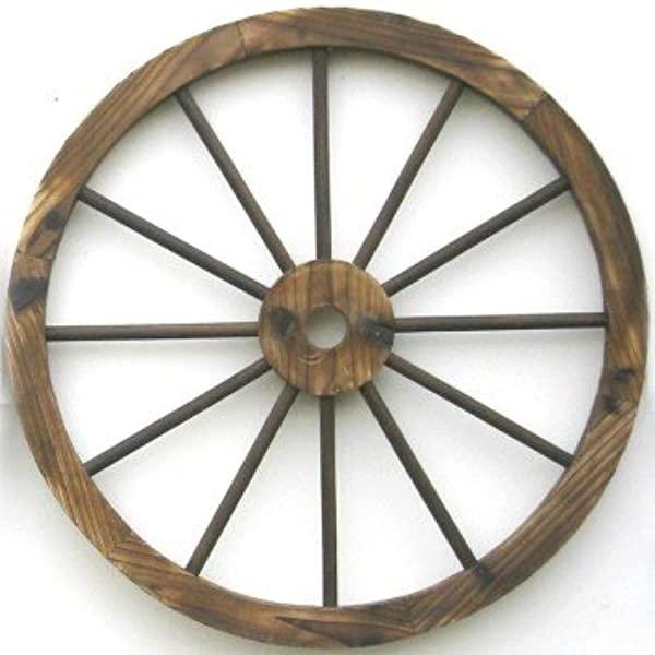 Amazon.com: Western Wood Wagon Wheel Wall Decor: Home & Kitch