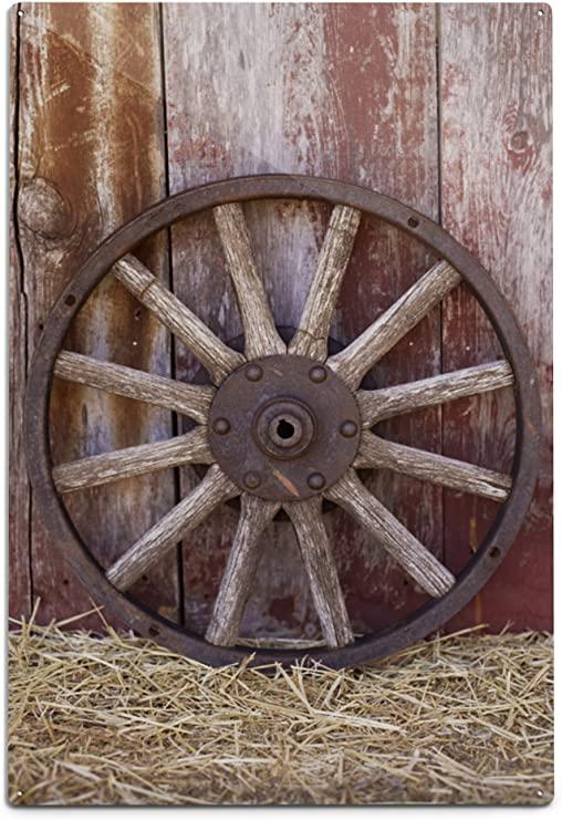 Amazon.com: Lantern Press Wagon Wheel 75302 (6x9 Aluminum Wall .
