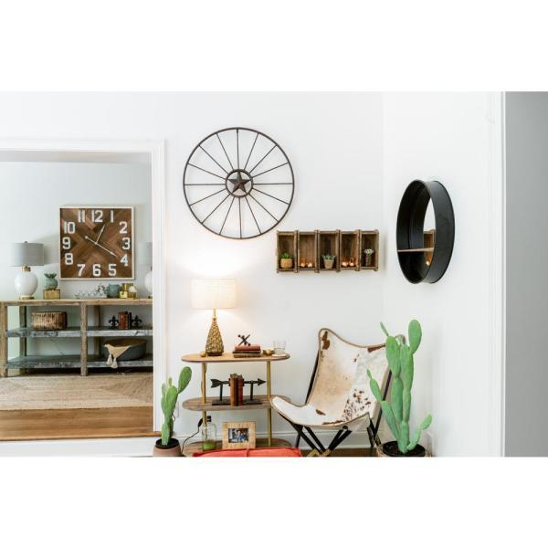 3R Studios Metal Brown Wagon Wheel Wall Decor-DA1582 - The Home Dep