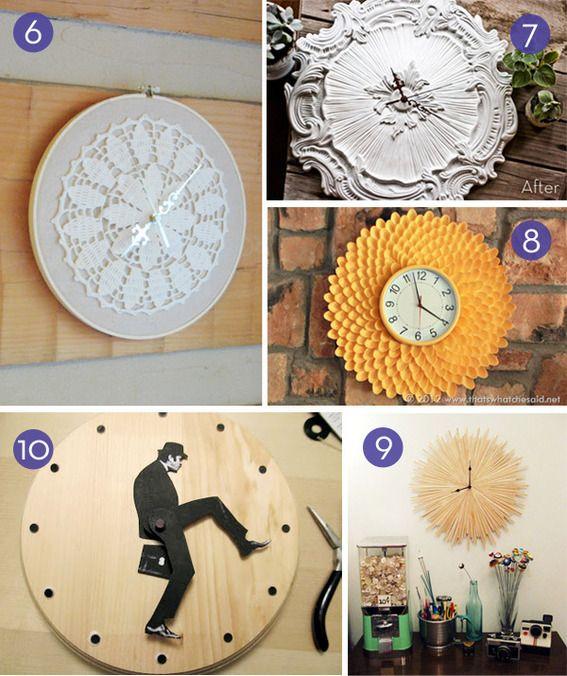Time to DIY: 10 Easy Wall Clock Tutorials | Diy clock wall, Wall .