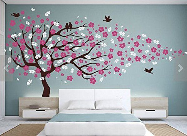 45+ Beautiful Wall Decals Ideas | Art and Design | Baby girl room .