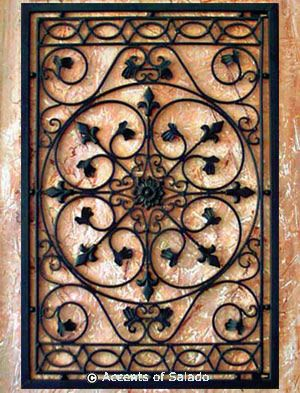 Tuscan Wall Decor - Iron Wall Grille ~ I would need 2 to use on .