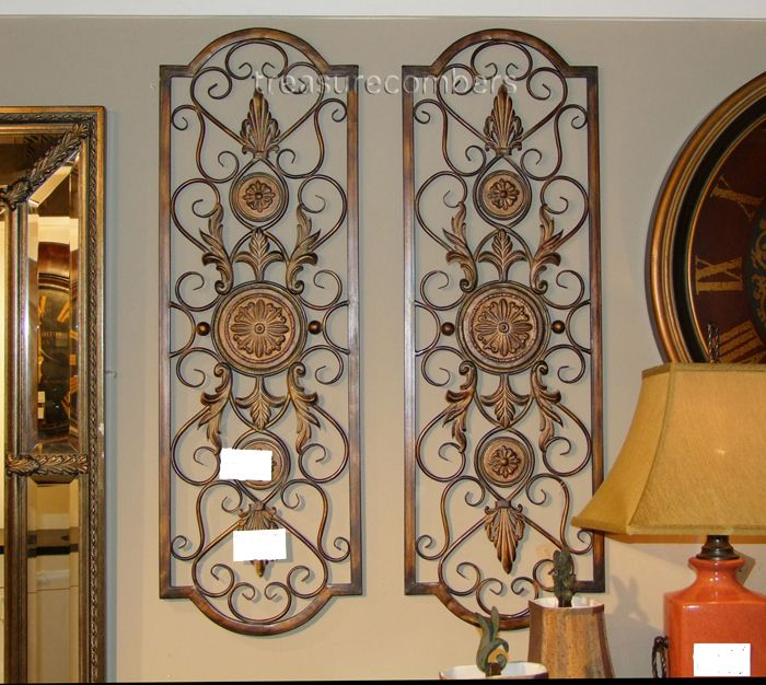 42 Iron Scroll TUSCAN Wall GRILLE Gold Grill Panels | Iron wall .