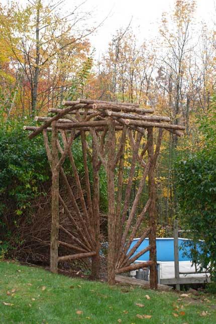Rustic Arbors & Pergolas | Wedding Chuppahs | Branch Trellises .