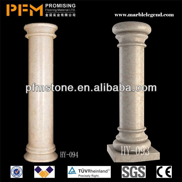 decorative roman style hand carved marble wedding pillars columns .