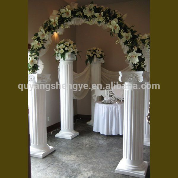 Source marble decorative wedding columns for sale on m.alibaba.com .