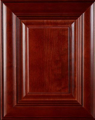 "Cherry wood door - ""Burgundy"" stain 